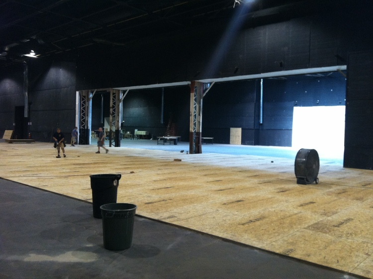 Dual stages prepped for Chicago Fire.