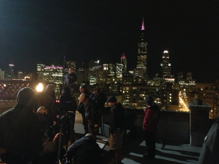 Shooting on the rooftops of Chicago